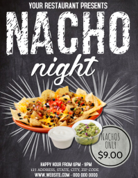 Restaurant Nacho Night Flyer template