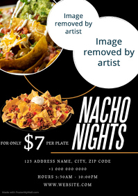 Restaurant Nacho Nights Flyer ad Template