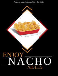 Restaurant Nacho Nights Flyer Template