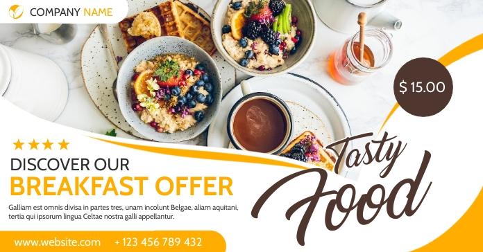 restaurant online facebook advertising template