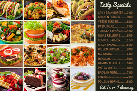 Restaurant Photo Menu Template