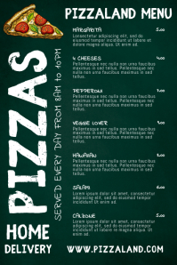 Restaurant Pizza Bar Pub Menu Template
