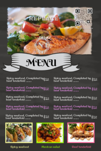 Blackboard restaurant poster with a big customizable image