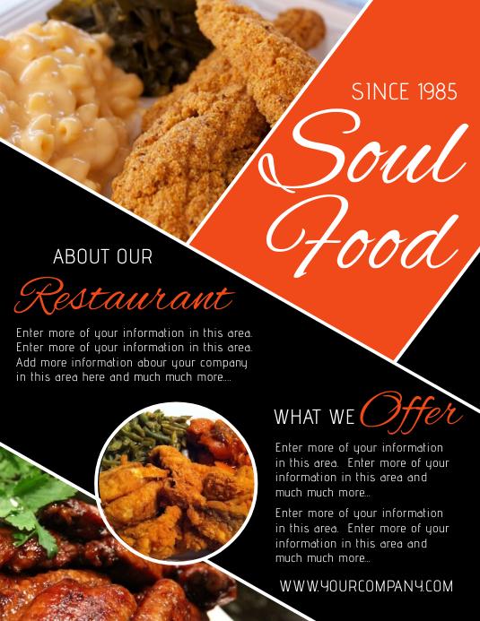 restaurant Flyer (US Letter) template