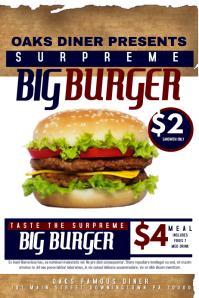 Customizable Design Templates for Burger Poster | PosterMyWall