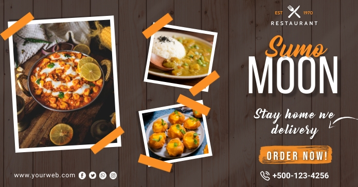 Restaurant prmotion facebook post template
