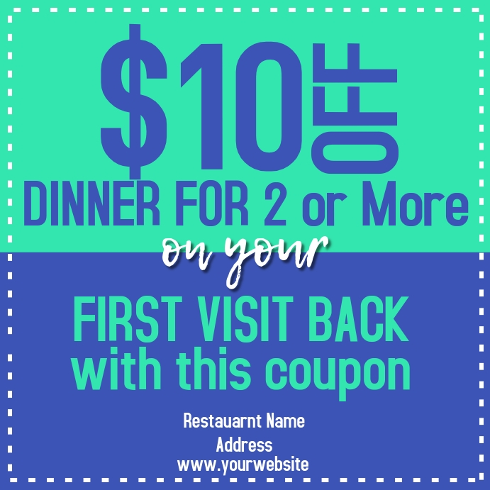 Restaurant Promo Coupon Pos Instagram template