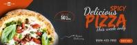 Restaurant Promotion Email Header Design E-mail-overskrift template