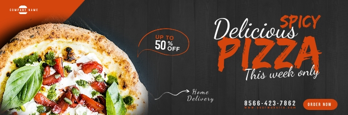 Restaurant Promotion Email Header Design Заголовок эл. почты template