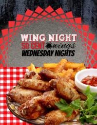 Restaurant Pub Bar Wing Special Night Flyer