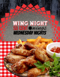 Restaurant Pub Bar Wing Special Night Flyer