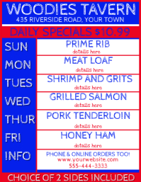 Restaurant Pub Daily Specials