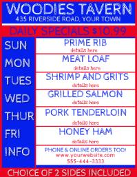 Restaurant Pub Daily Specials