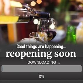 Restaurant Reopening Instagram Template