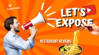 Restaurant review YouTube thumbnail template