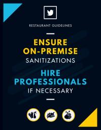 Restaurant Sanitization Employee Guide Banner Flyer (US Letter) template
