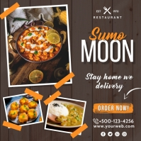 Restaurant Scoial Media Post Instagram 帖子 template
