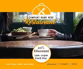 RESTAURANT SHOP Large Rectangle template