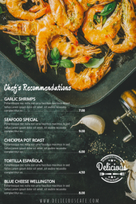 Restaurant Special Deals Menu Template