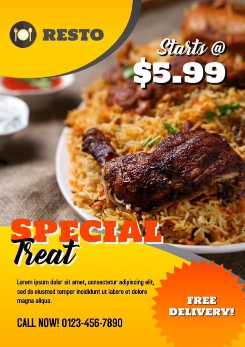 Restaurant Special Treat Flyer