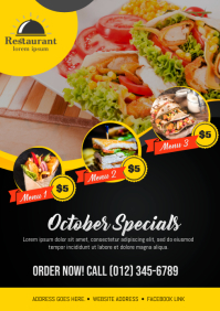 Restaurant Special Treat Flyer A4 template