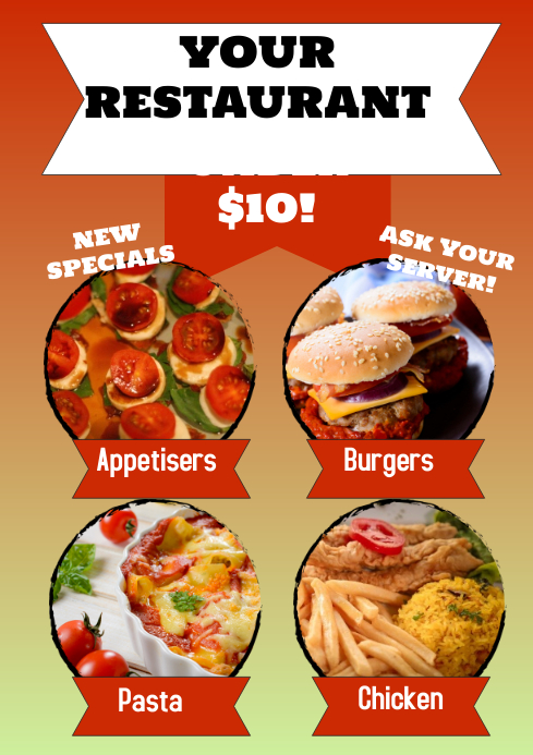 Restaurant Specials Poster Template Postermywall