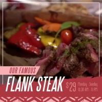 Restaurant Steak Food Square Video