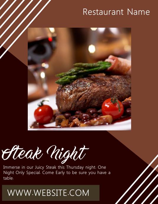 Restaurant Steak Night Flyer Template