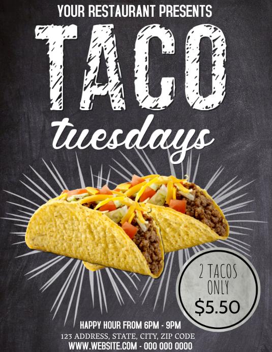 Restaurant Taco Tuesday Flyer template