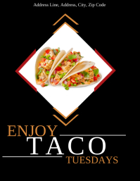 Restaurant Taco Tuesdays Flyer Template