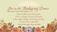 Restaurant Thanksgiving Promo Digital Display template