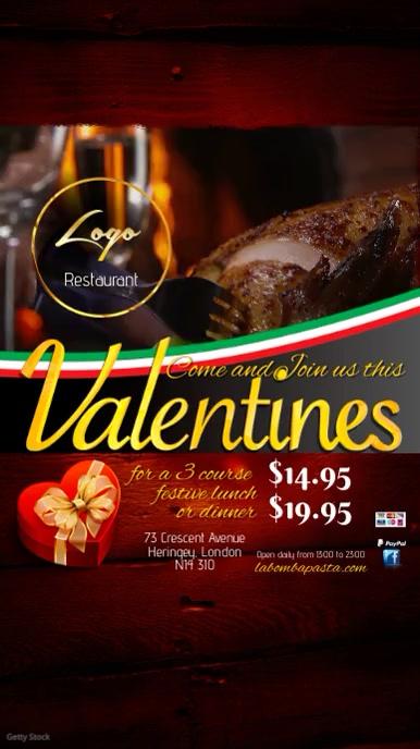 Restaurant Valentines Invitation