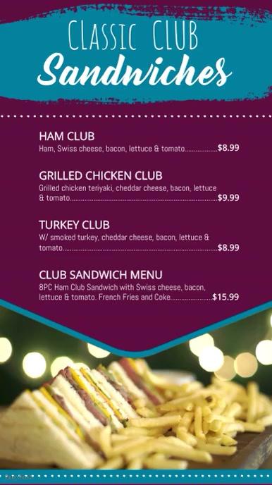 Restaurant Video Menu Template Digitalt display (9:16)