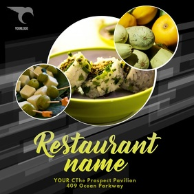 Restaurant video promotion template instagram