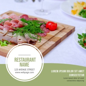 Restaurant Video Template for business advertising instagram Isikwele (1:1)