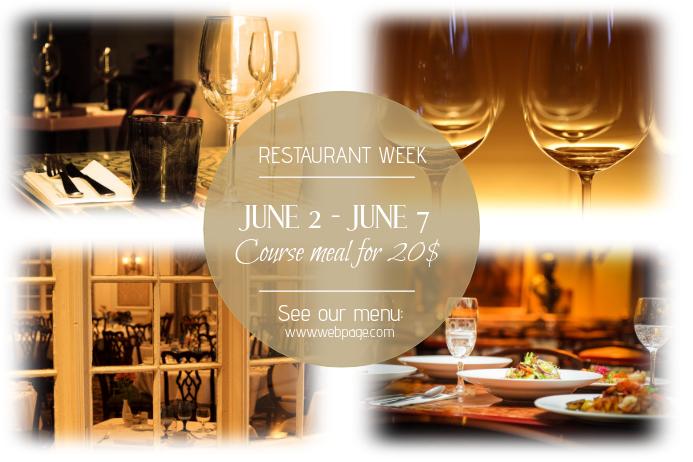 restaurant week landscape discpunt meal poster