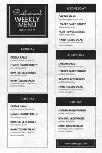 Restaurant weekly menu template