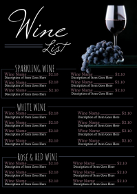 Restaurant Wine List Menu Flyer Template