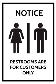 Restroom Toilet Poster Template Cartaz