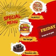 Resturant flyer Instagram Post template