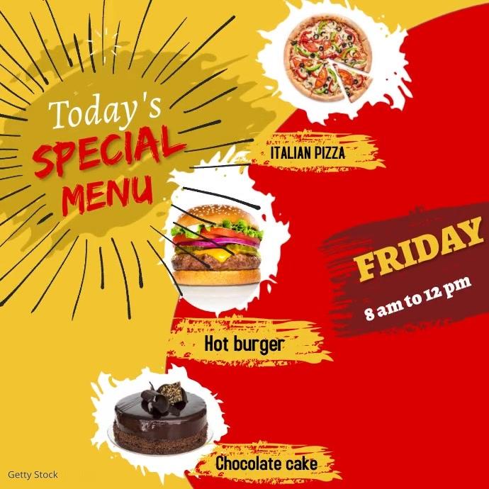 Resturant flyer Instagram 帖子 template