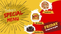 Resturant flyer Twitch Banner template