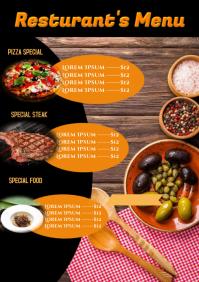 Resturant Menu A4 template
