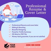 Resume & cover letter instagram template