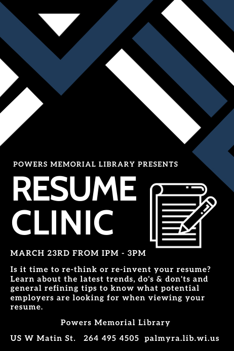 Resume Clinic Template Poster