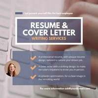 Resume cover letter writing service โพสต์บน Instagram template