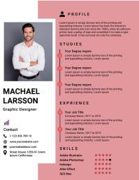 Resume/CV ใบปลิว (US Letter) template