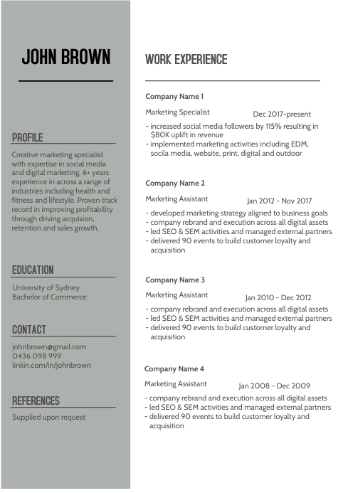 Resume/Cv Template from d1csarkz8obe9u.cloudfront.net