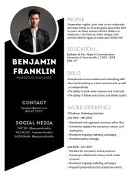Resume Flyer (US Letter) template