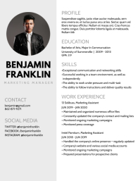 Resume Flyer (US Letter) template